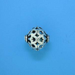 15109 - Bali Silver Bead 15.5x12.5mm