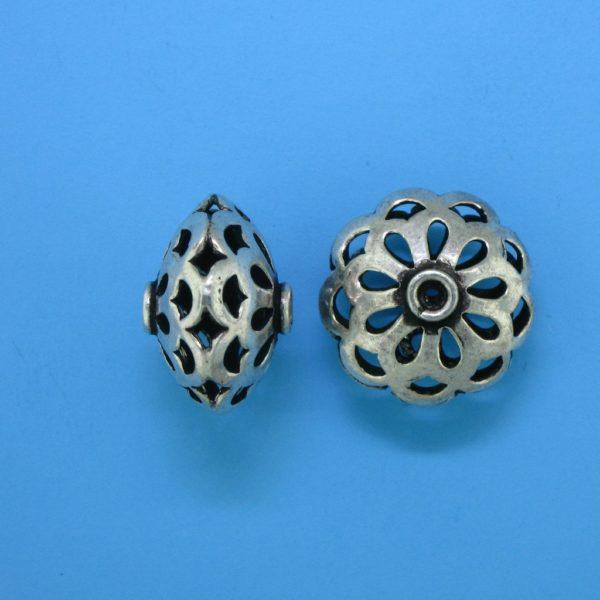 15110 - Bali Silver Bead 15.5x10mm