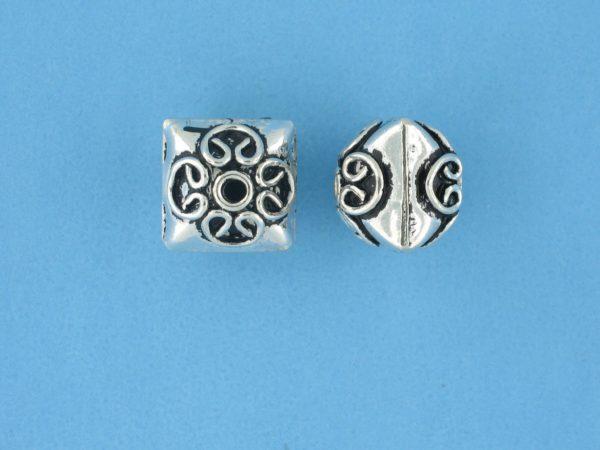 15101 - Bali Silver Bead 11x11mm
