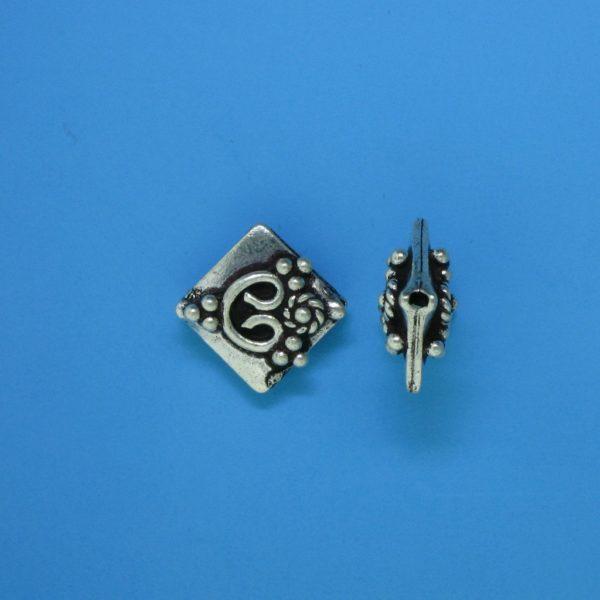 15116 - Bali Silver Bead 9x9mm