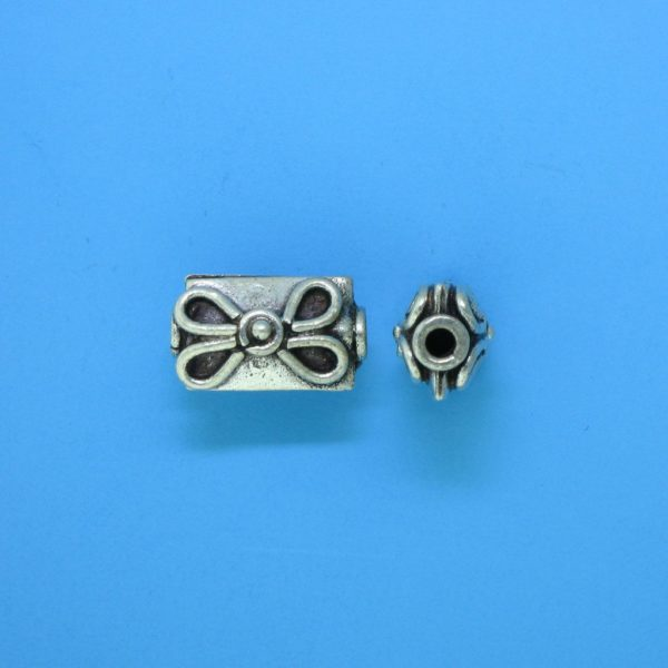 15118 - Bali Silver Bead 12x7mm