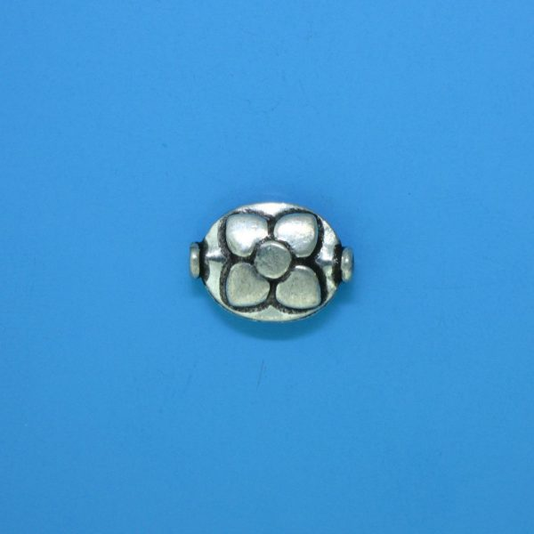 15119 - Bali Silver Bead 13x9.5mm