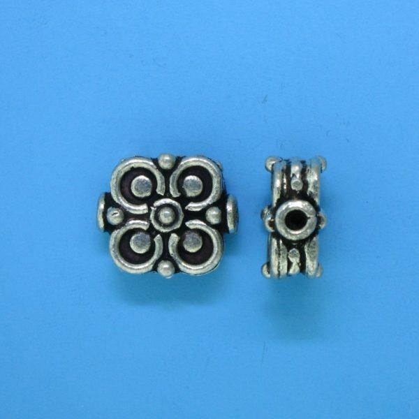 15123 - Bali Silver Bead 15x12.5mm