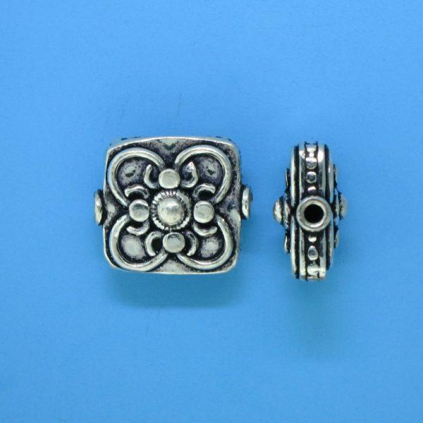 15126 - Bali Silver Bead 14x14mm