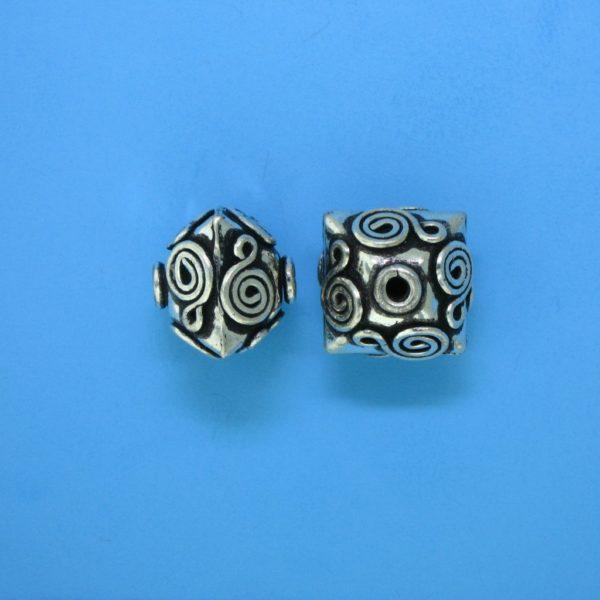 15132 - Bali Silver Bead 13x12x12mm
