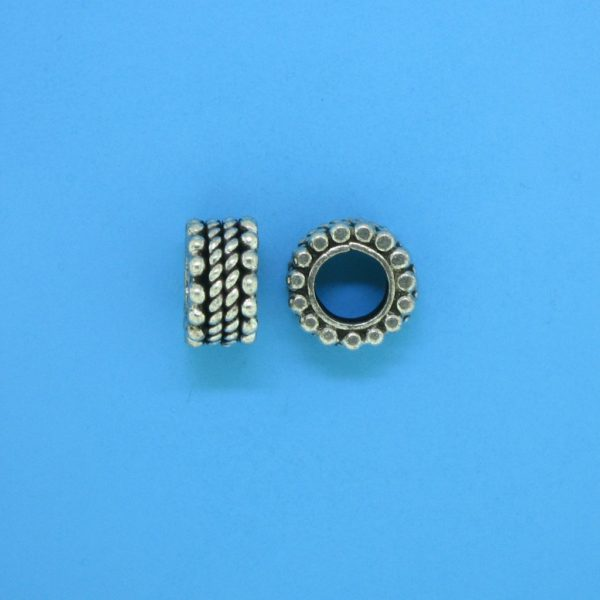 15141 - Bali Silver Spacer Bead 9x5mm