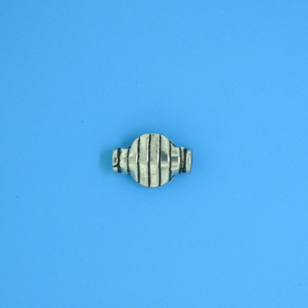 15146 - Bali Silver Bead 11x7.5mm