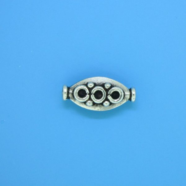 15150 - Bali Silver Bead 16x8mm