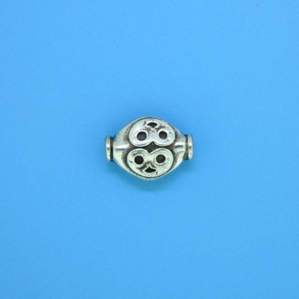 15151 - Bali Silver Bead 12x9mm