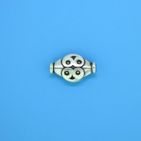 15152 - Bali Silver Bead 14x8mm