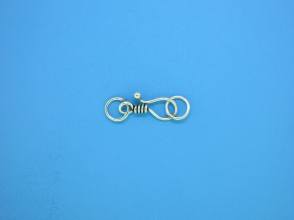 15602 - Bali Silver Clasp 20x6mm