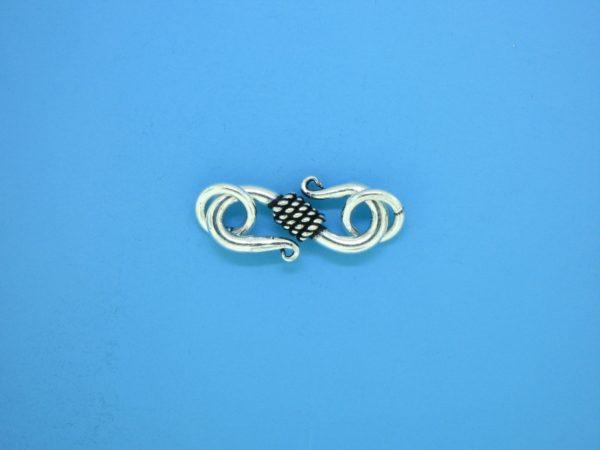 15608 - Bali Silver Clasp 28x7mm