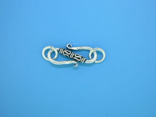 15612 - Bali Silver Clasp 29x7mm