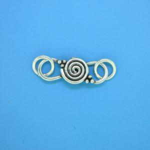 15617 - Bali Silver Clasp 32x9mm