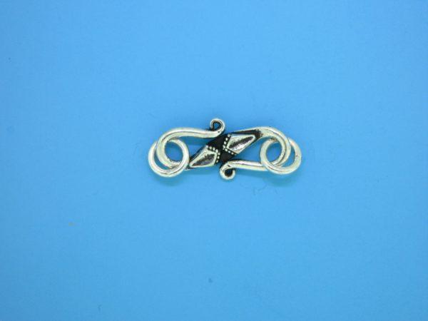 15619 - Bali Silver Clasp 27x7mm