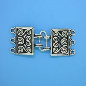 15632 - Bali Silver Clasp 38x15mm