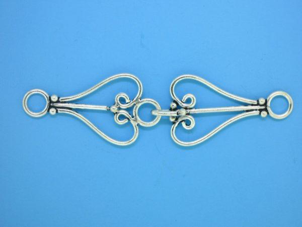 15635 - Bali Silver Clasp 57x15mm