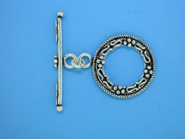 15640 - Bali Silver Round Clasp