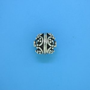 15459 - Bali Silver Round Bead 12x12mm