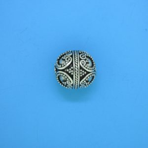 15460 - Bali Silver Round Bead 13x12mm