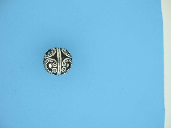 15460 - Bali Silver Round Bead 10x10mm