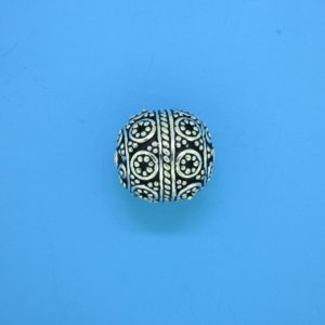 15461 - Bali Silver Round Bead 15x13mm