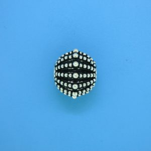 15462 - Bali Silver Round Bead 13x15mm