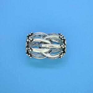 15464 - Bali Silver Round Fancy Bead 15x14mm