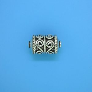 15465 - Bali Silver Cylindrical Bead 16.5x10mm