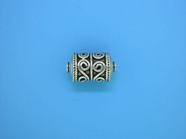 15465 - Bali Silver Cylindrical Bead 16.5x10mm