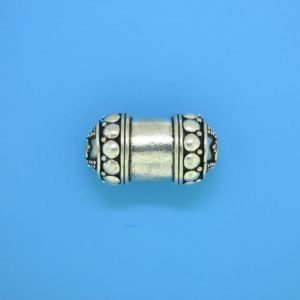 15466 - Bali Silver Cylindrical Bead 23x12mm