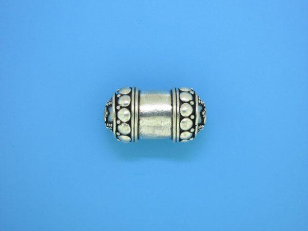 15466 - Bali Silver Cylindrical Bead 23x12mm