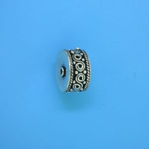 15467 - Bali Silver Cylindrical Bead 14x7mm