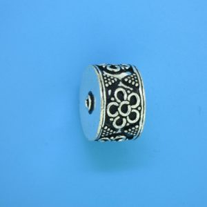 15469 - Bali Silver Cylindrical Bead 12x17mm