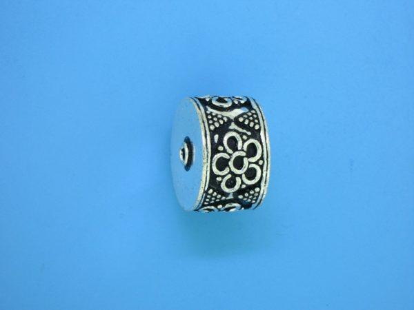 15469 - Bali Silver Cylindrical Bead 12x17mm
