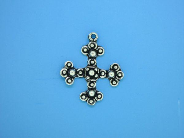 15470 - Bali Silver Cross 26x23mm