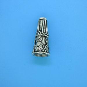 15474 - Bali Silver Cone 21x10mm