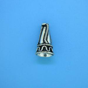 15475 - Bali Silver Cone 18x9.5mm