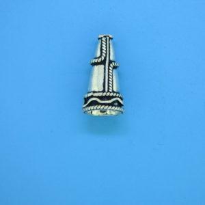 15476 - Bali Silver Cone 18x10mm