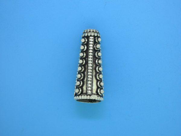 15478 - Bali Silver Cone 26x10mm