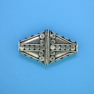 15481 - Bali Silver Bead 30x18mm