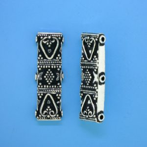 15482 - Bali Silver 3 Strands Connector 29x9mm