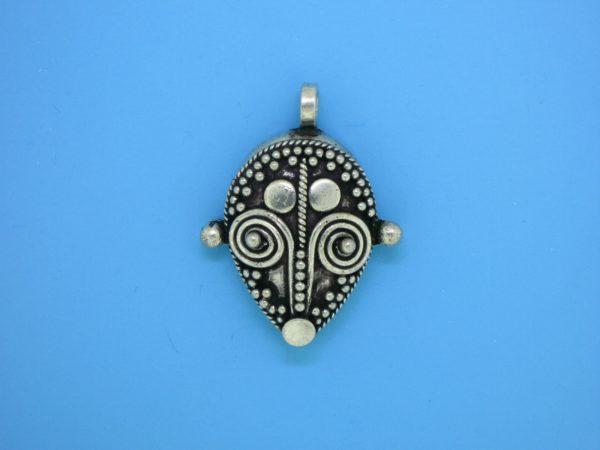15485 - Bali Silver Pendant  28x16mm