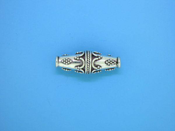 15487 - Bali Silver Bead  24x9mm