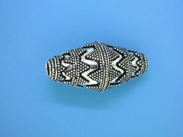 15489 - Bali Silver Bead  36x18mm