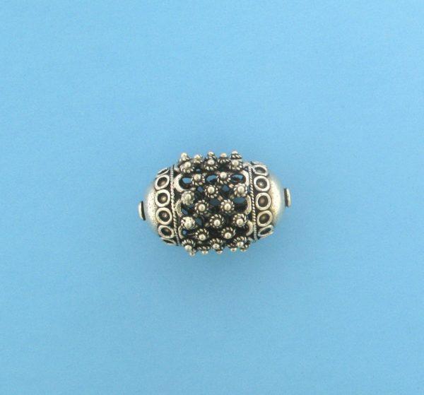 15494 - Bali Silver Pendant  37x25mm