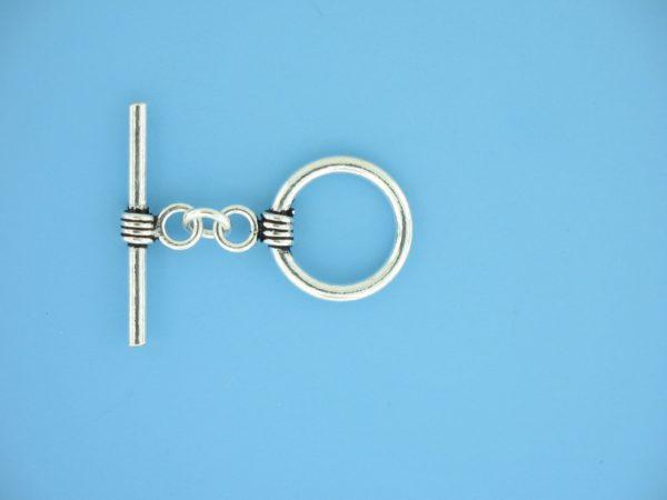 15647 - Bali Silver Toggle Clasp