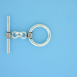 15648 - Bali Silver Toggle Clasp