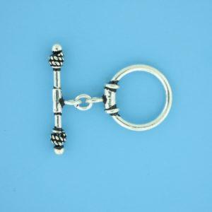 15653 - Bali Silver Toggle Clasp
