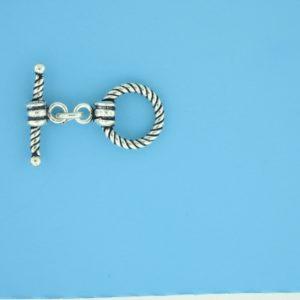 15654 - Bali Silver Toggle Clasp